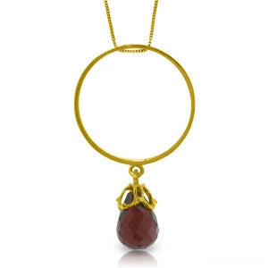 3 Carat 14K Solid Gold Charming Spectator Garnet Necklace