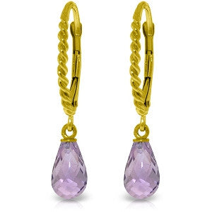 3 CTW 14K Solid Gold Athena Amethyst Earrings