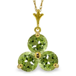 0.75 Carat 14K Solid Gold Crossings Peridot Necklace