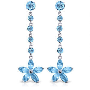 4.8 Carat 14K Solid Gold Amethystid The Rubble Blue Topaz Earrings