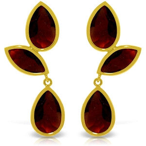 13 CTW 14K Solid Gold Alexandra Garnet Earrings