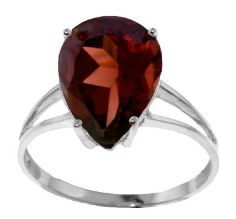 5 Carat Sterling Silver All About Love Garnet Ring