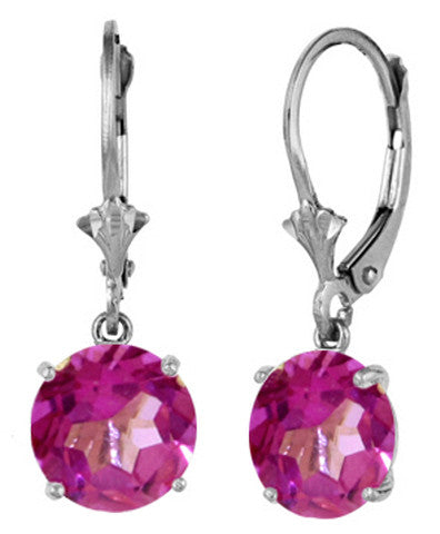2.7 Carat Sterling Silver Along Came You Pink Topaz Earrings