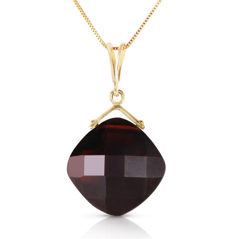 8.75 Carat 14K Solid Gold Distant Horizon Garnet Necklace