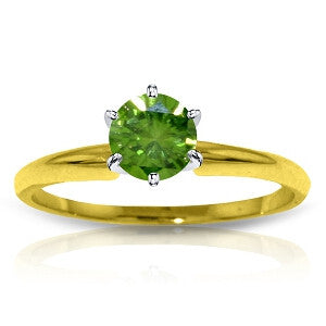 0.5 Carat 14K Solid Gold Solitaire Ring 0.50 Carat Natural Green Diamond