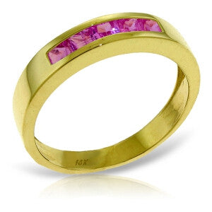 0.6 CTW 14K Solid Gold Rings Natural Pink Sapphire