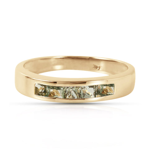 0.6 Carat 14K Solid Gold Rings Natural Green Sapphire