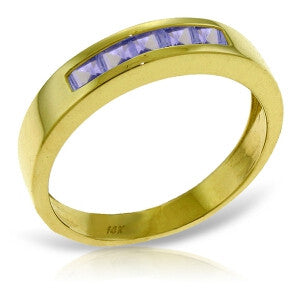 0.5 Carat 14K Solid Gold Rings Natural Tanzanite