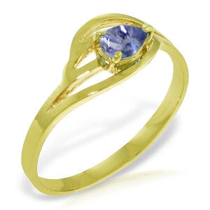 0.3 Carat 14K Solid Gold Ring Natural Tanzanite