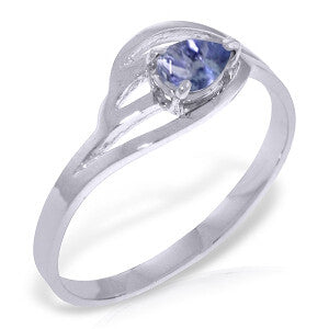 0.3 CTW 14K Solid White Gold Ring Natural Tanzanite