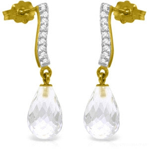 4.78 Carat 14K Solid Gold Adore White Topaz Diamond Earrings