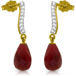 6.88 CTW 14K Solid Gold Adore Ruby Diamond Earrings