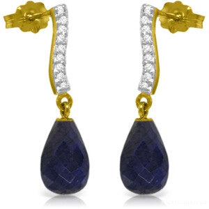 6.88 CTW 14K Solid Gold Adore Sapphire Diamond Earrings