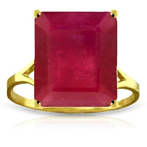 7.5 Carat 14K Solid Gold Ring Natural Octagon Ruby