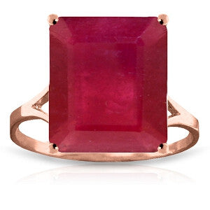 7.5 Carat 14K Solid Rose Gold Ring Natural Octagon Ruby