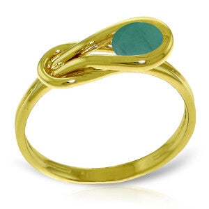 0.65 Carat 14K Solid Gold Ring Natural Emerald