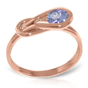 0.65 Carat 14K Solid Rose Gold Ring Natural Tanzanite