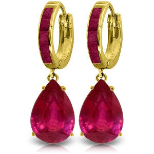 11.3 Carat 14K Solid Gold Dramatique Ruby Earrings