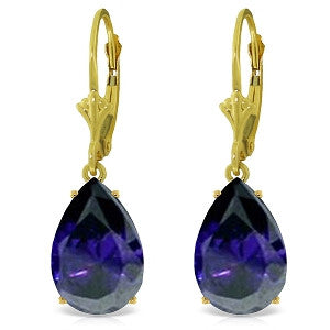 9.3 Carat 14K Solid Gold Carolina Sapphire Earrings