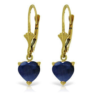 3.1 Carat 14K Solid Gold Cupid Intent Sapphire Earrings
