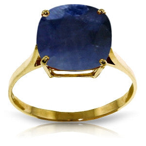 4.83 CTW 14K Solid Gold Ring Natural Cushion Sapphire