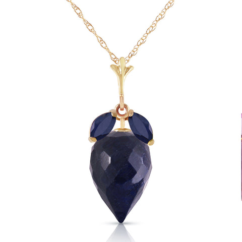 13.4 Carat 14K Solid Gold Bedtime Story Sapphire Necklace