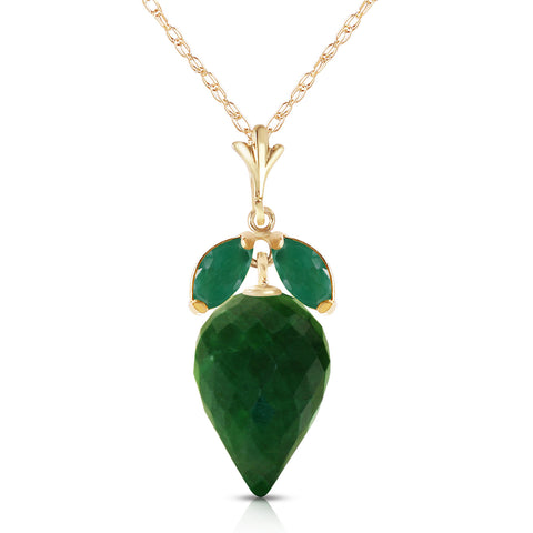 13.4 Carat 14K Solid Gold Conversation Overheard Emerald Necklace