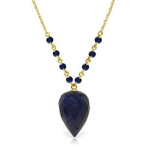14 CTW 14K Solid Gold Ain't No Rebound Sapphire Necklace