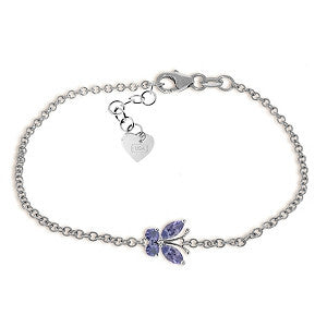 0.6 Carat 14K Solid White Gold Never A Dull Moment Tanzanite Bracelet