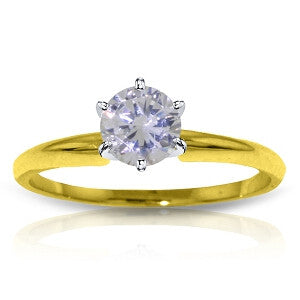 14K Solid Gold Solitaire Ring w/ 0.40 Carat H-i, Si-2 Natural Diamond