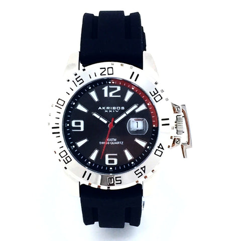Akribos XXIV Essential Mens Watch AK492BK - New With Tag