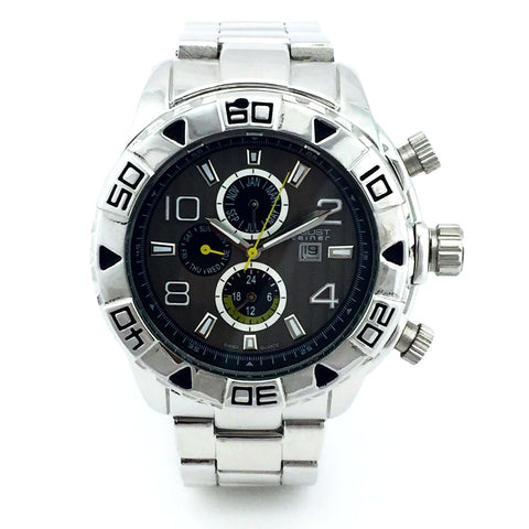 August Steiner Mens AS8130SSB Swiss Quartz Watch - New With Tag
