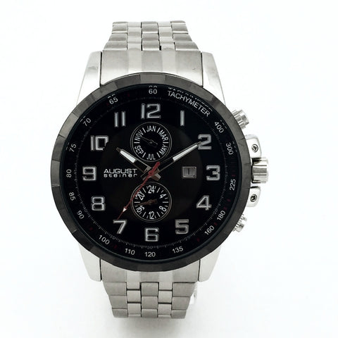 August Steiner Mens AS8153SSB Swiss Quartz Watch - New With Tag