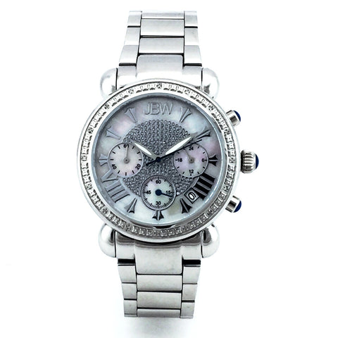 JBW JB-6210 WOMEN VICTORY PEAR DIAMOND CHRONOGRAPH WATCH - New With Tag