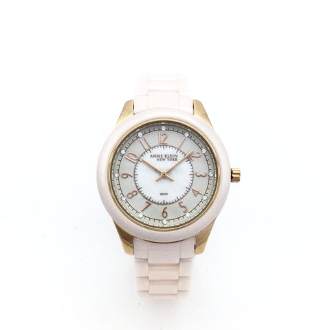 Anne Klein 12/2224RGLP Womens Swiss Quartz Watch - MSRP $195