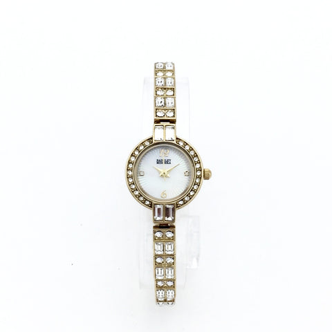 Badgley MIschka BA/1372MPSV Womens Gold Tone Watch and a Bracelet - MSRP $225