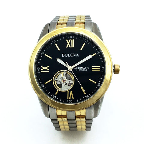 Pre-Owned Bulova 98A168 Mens Automatic Two Tone Watch