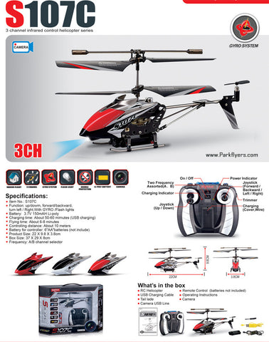 107C Metal Series RC Helicopter with Video Camera