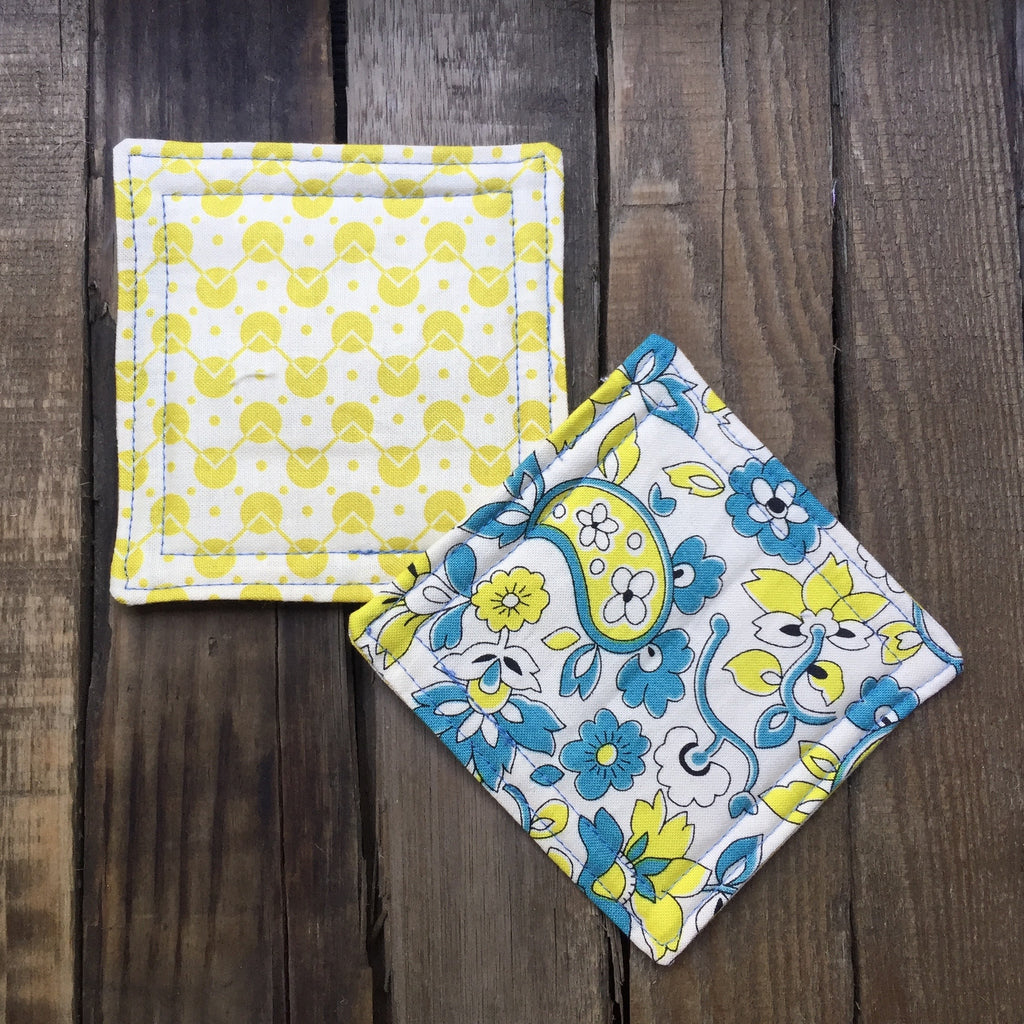 """Wendy"" coasters (yellow)"