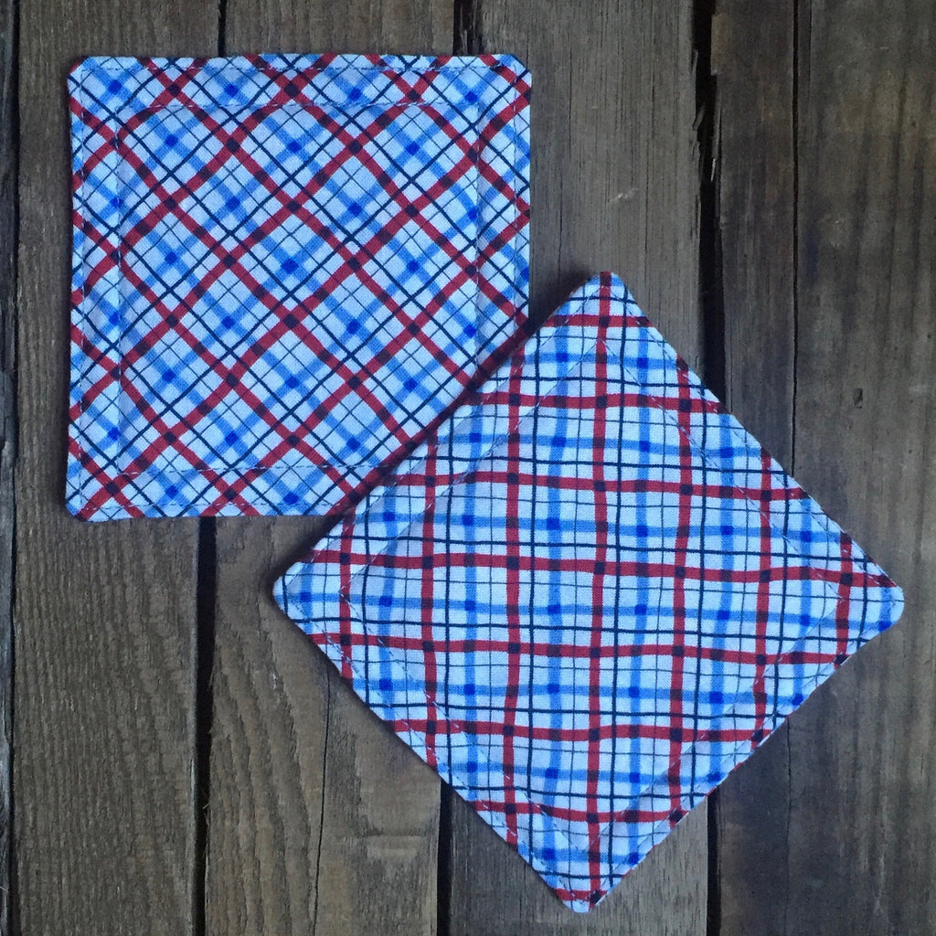 """Sanford"" coasters (red & blue)"