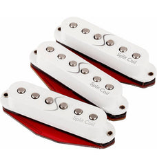A set of 3 Fender Super 55 Split coil pickups, shown without their packaging. Contains the bridge, middle, and neck pickups.