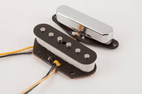 A set of 2 Telecaster pickups from the Fender Custom Shop Texas Special Series. Contains a bridge and neck pickup. Shown without their packaging.