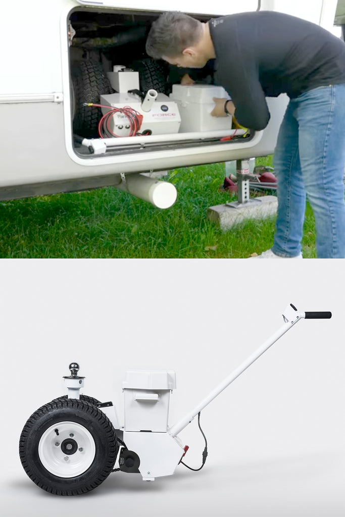 COMPACT TRAILER DOLLY FITS INTO RV STORAGE COMPARTMENT