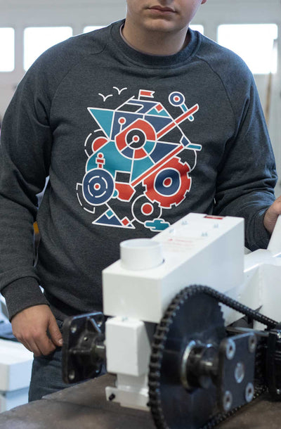 Ken, one of our Shop Manufacturers, wearing a Parkit360 Sweater.