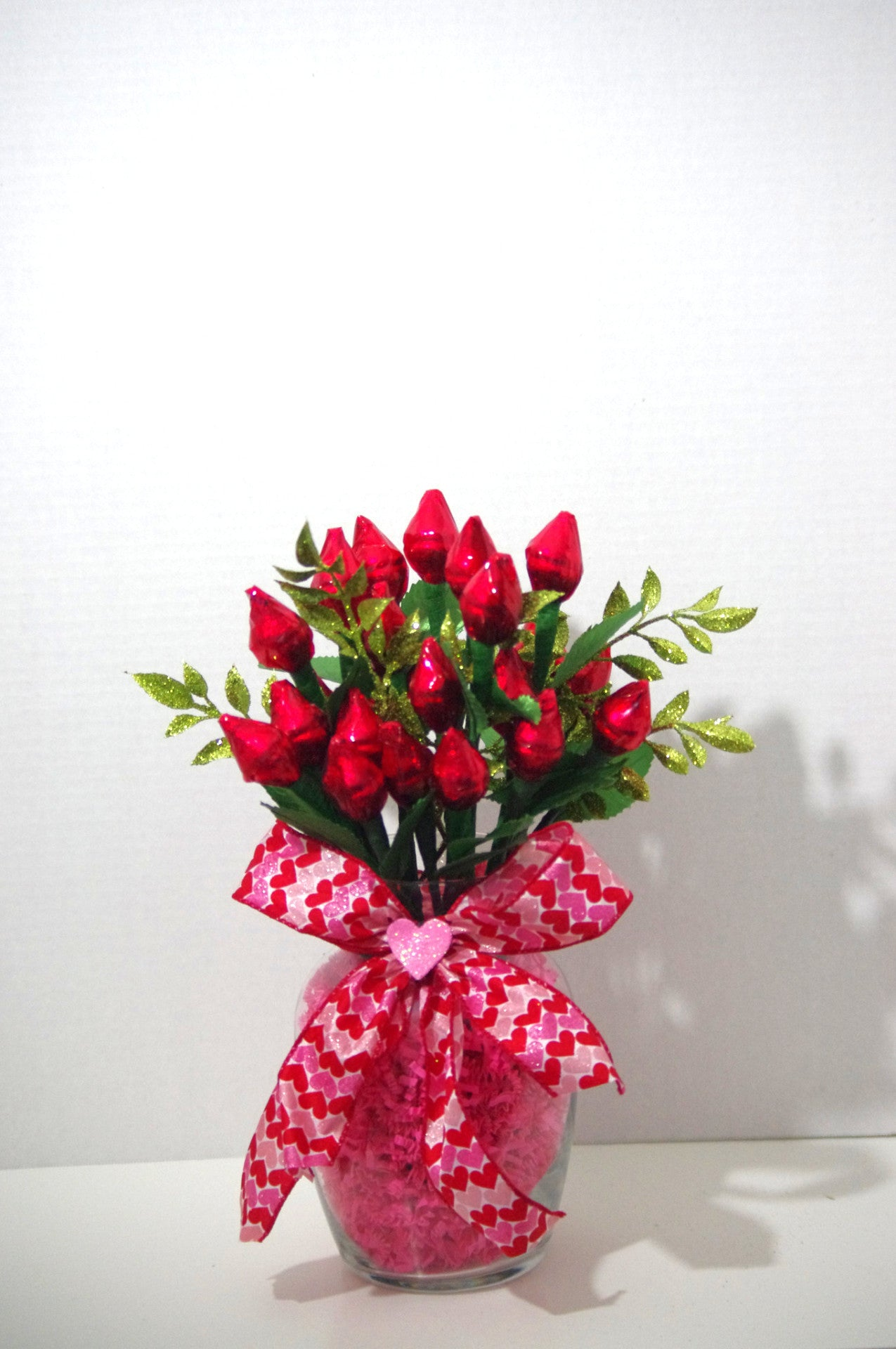 Valentines Day Red Hershey Kiss Roses Two Dozen Sweet Cheers