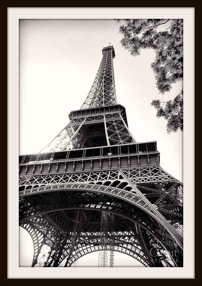 Paris Decor Eiffel Tower Fine Art Photography Black And White