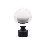 "1-3/16"" Acrylic Ball Finial Matte Black (Brass)"