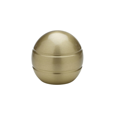 "1-3/16"" Modern Ball Finial Satin Brass (Brass)"
