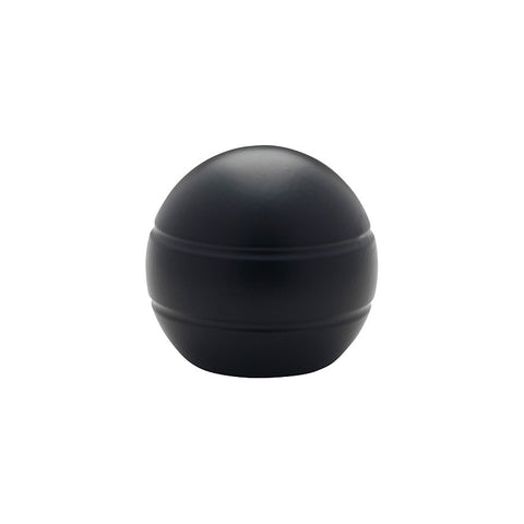 "1-3/16"" Modern Ball Finial Matte Black (Brass)"