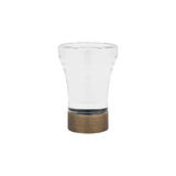 "1-3/16"" Acrylic Flare Finial Brushed Brass (Brass)"